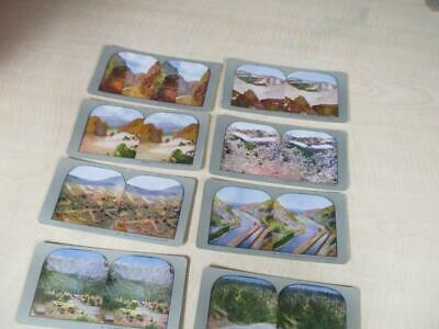 Lot ANTIQUE STEREOVIEW STEREOSCOPIC 8 CARDS PICTURESQUE COLORADO