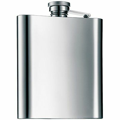8oz HIP FLASK Stainless Steel Pocket  Whiskey Engrave Funnel Drink Cup Spirit