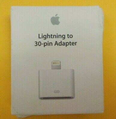 Genuine Apple Lightning to 30-pin Adapter MD823ZM/A OEM Apple Retail Packaging