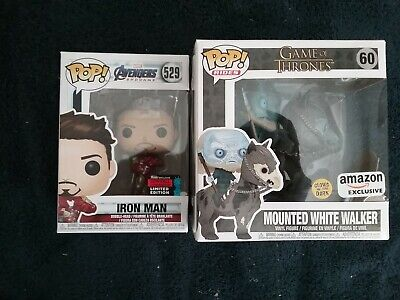 Funko Pop! Game of Thrones MOUNTED WHITE WALKER #60 Set of 2 Amazon and Common