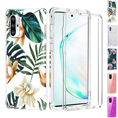 Fr Samsung Galaxy Note 10 Plus S10 Case Cover Full Screen Protetcor PC TPU Paint