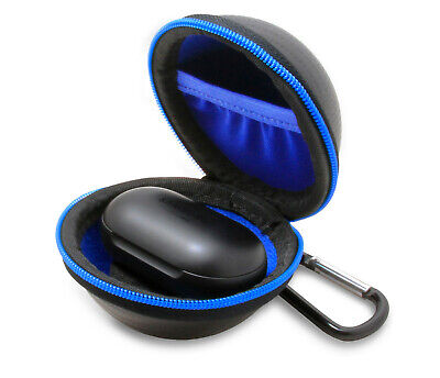 Travel Carry Case Fits Samsung Galaxy Buds - Includes USB Cable and Carabiner