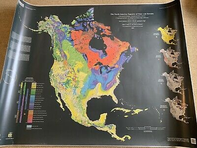 """The North America Tapestry of Time and Terrain Map 2003 54 X 42"""""""