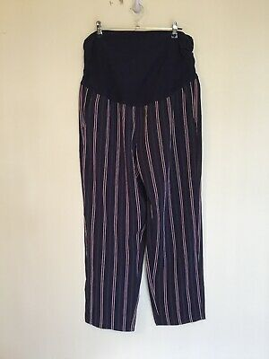 TARGET COLLECTION NWOT Size 12 Navy Stripe Maternity Pants With Pockets