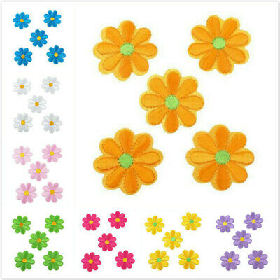 5PCS Small Daisy Flower Embroidery Iron Sew On Patches Applique Craft Decor OO