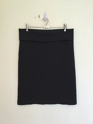 MOTHERCARE M2B As New Size 12 Stretch Black Fold Over Waistband Maternity Skirt