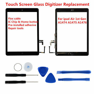 For iPad Air Front Touch Screen Glass Digitizer Replacement with Home Button