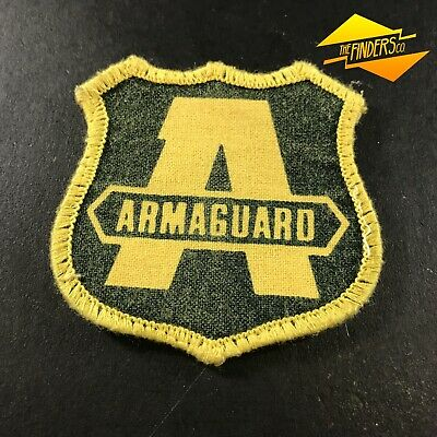 Vintage Obsolete Armaguard Security Embroidered Patch Shoulder Logo Badge #3