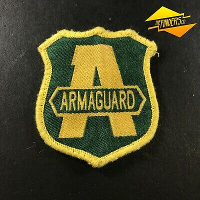 Vintage Obsolete Armaguard Security Embroidered Patch Shoulder Logo Badge #4