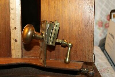 Antique Brass Surface Door Lock Handle Lockset Backplate Lever No Catch