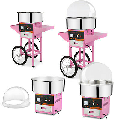1030W Electric Commercial Cotton Candy Maker Fairy Floss Machine w/ Cart &Cover