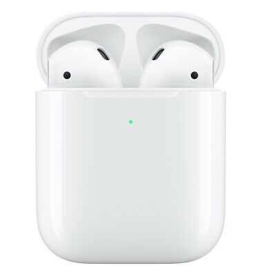 Apple AirPods MRXJ2AM/A 2nd Generation with Wireless Charging Case - White
