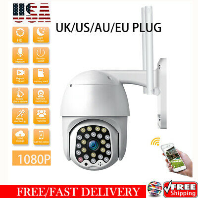 1080P HD IP CCTV Waterproof Outdoor Camera WiFi PTZ Security Wireless IR Cam US#