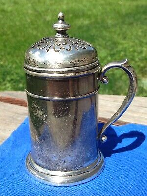 Wallace Sterling Mug? Powder Duster? Unknown Year Made! Not Scrap Silver!