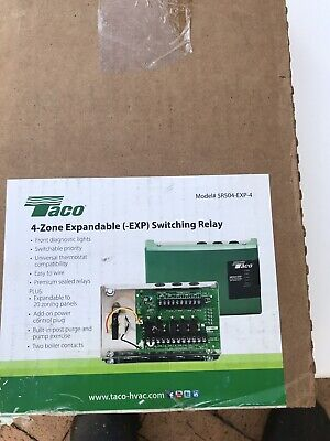 TACO 2 ZONE Pump Control Switching Relay SR502 (Marked