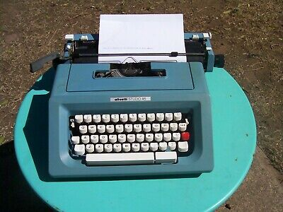 A very nice Olivetti S46 portable typewriter & case