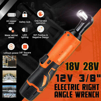 12V/18V/28V Cordless Electric Ratchet Wrench Right Angle One Battery One Charger
