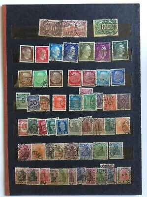 GERMAN REICH 20th C 187 USED STAMPS OFF PAPER from kiloware