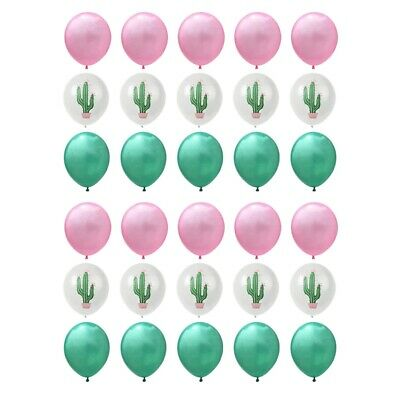 1X(30PCS Cactus Party Balloons for Hawaiian Tropical Party Balloons Birthday Q8)