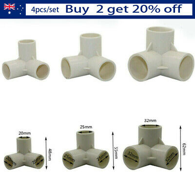 20/25/32mm 3/4/5/6 Ways Home Garden Pipe Fittings 4pcs PVC Water Connectors B
