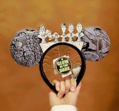 Disney Parks Haunted Mansion 50Th Mickeh Glow In The Dark Busts Ears Headband