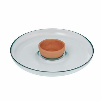EcoGlass - Chip n Dip 2pc Set 100% Recycled Glass (Made in Spain)