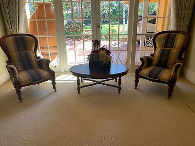 Beautiful Antique French Armchairs with castors