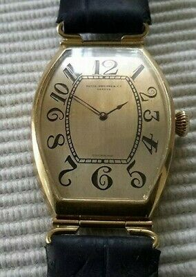 "VERY RARE ""BANANA"" MONSTER PATEK PHILIPPE  18k SOLID GOLD WRIST WATCH  !!!"