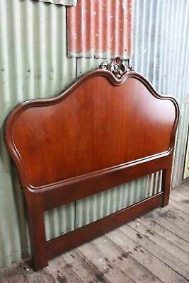 A Vintage Mahogany French Queen Size Bed Head
