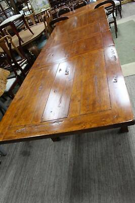 A 3.1 Metre French Provincial Distressed Oak Extension Dining Table with 2 Leafs
