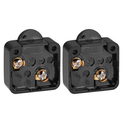 Wardrobe Door Light Switch Momentary Cabinet Switch NC 110-250V 2A Black 2 Pcs