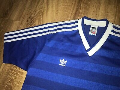 Adidas West Germany blue DDR Yugoslavia Style template football shirt size L
