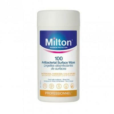 Milton Antibacterial Surface Wipes, Canister of 100
