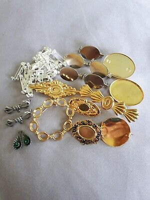 Large Job Lot Brooch Components/Findings