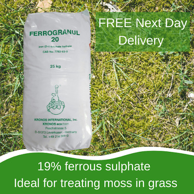 1 x 25kg Iron Sulphate High Quality Iron Formulation, Suppresses Moss, Use All Y