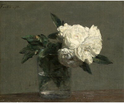 Henri Fantin Latour Roses 3 Giclee Canvas Print Paintings Poster Reproduction