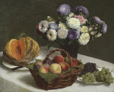Henri Fantin Latour Flowers And Fruits Giclee Canvas Print Paintings Poster
