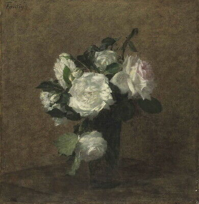 Henri Fantin Latour Roses 6 Giclee Canvas Print Paintings Poster Reproduction