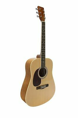 Koda Left-Handed Acoustic Guitar Natural 4/4 Size Beginner PACK, HW41L201