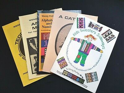 Bk275 Silver Reed Brother Knitting Machine Wendy Phillips Pattern Books X5