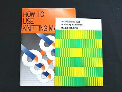 Bk278 Brother Knitting Machine Instruction Manuals Kh860 And Kr830 Ribber X2