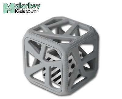 Malarkey Kids Teething Chew Cube - Grey