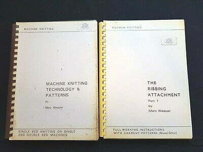 Bk281 Brother Silver Reed Knitting Machine Pattern Books By Mary Weaver X 2