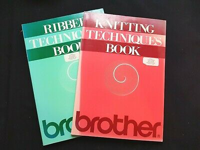 Bk283 Brother Knitting Machine Instruction Manuals Ribber Techniques Books 1 2