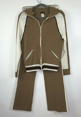 Vintage Veneto By Seaton Track Suit 2pc Womens Long Sleeve Full Zip Med Poland