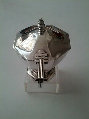 Vintage Signed Birmingham Sterling Silver Mustard Pot. Vgc. Pin Missing In Hinge