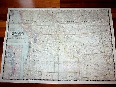 Northwestern United States & Neighboring Canadian Provinces Map 1950