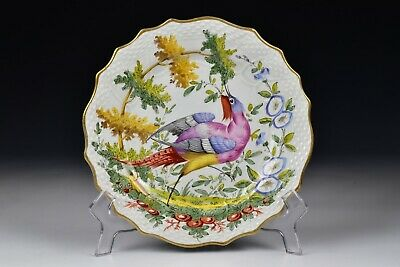 Chelsea Hand Painted  Porcelain Bird Plate 19th Century #4