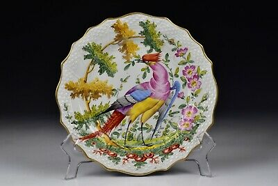 Chelsea Hand Painted  Porcelain Bird Plate 19th Century #5