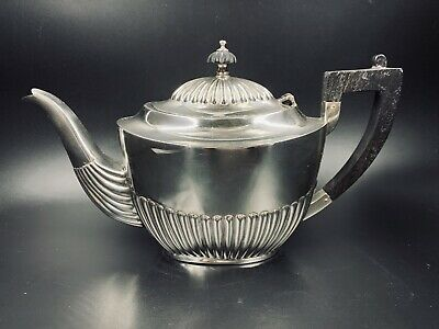 Antique Queen Anne Style Sterling Silver Teapot Total 400g